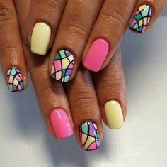 Pin on Makeup/Nails Funky Nail Art, Funky Nails, Pretty Nail Art, Trendy Nails, Bright Nails, Hot Nails, Cute Toe Nails, Swag Nails, Grunge Nails