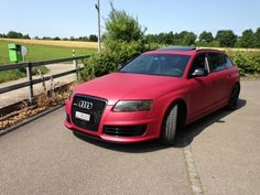 Audi RS6 wrapped in Avery Dennison #SWF Matt Cherry Metallic - by Car Wrapping design