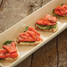 Waffles don't have to be sweet. Try them topped with smoked salmon (lox), cream cheese and avocado.