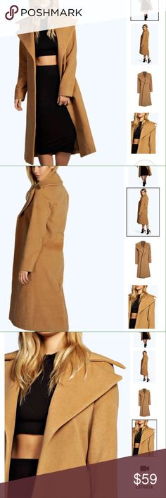 Camel Coat Brand new without tags, bought the wrong size, it says size 6, but I think this would best fit a true size 3/4... Only listed a Missguided for exposure ....(The more you buy, the more I lower my prices so bundle & save!!) Missguided Jackets & Coats