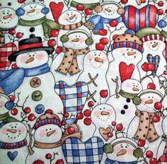 Snowmen Fabric Gift Bags - 2 pcs. $4.50, via Etsy.