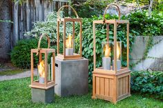 Enhancing the rustic appeal of your living space with this Terra Flame Sonoma Pedestal. Backyard Lighting, Outdoor Lighting, Outdoor Decor, Rustic Design, Rustic Decor, Staging Furniture, Cheap Plants, Elements Of Color, Teak Wood