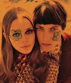 60s protests face paint - Google Search