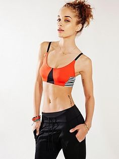 de55f87d44 Onzie Geo Elastic Bra Top by Urban Outfitters Black Urban Fashion
