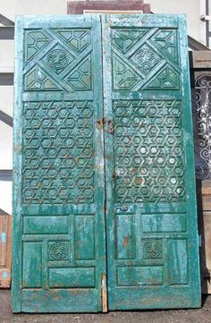 This color @Jaemi Moore ! Intricate Moorish door-would look amazing on a Mediterranean or Spanish style home. Standard doors are boring ;-)