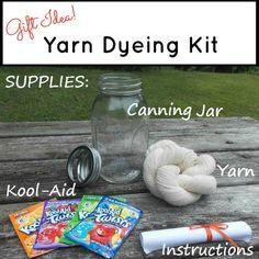 Easy Kool Aid Yarn Dyeing Kit - Great Gift Idea! | FiberArtsy.com