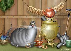 прикольные рисунки котов, смешные рисунки котов kot-dachnik
