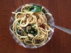 Christina Lowry Designs: Salmon and Spinach Pasta for the Spirit