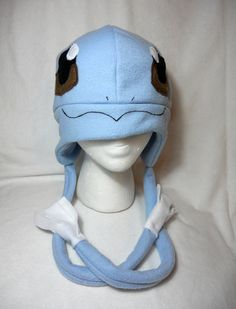 Pokemon Inspired Squirtle Fleece Hat -MADE TO ORDER-