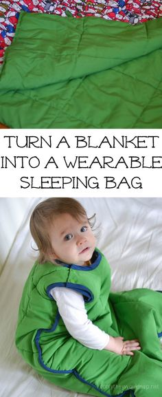Tutorial ohne SM Schlafsack aus Decke nähen - DIY: Turn a blanket into a wearable sleeping bag for baby