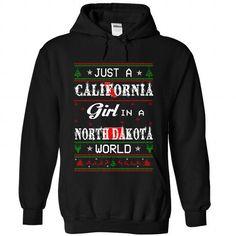 I Love WorldBlue CALIFORNIA-NORTHDAKOTA Girl Shirts & Tees