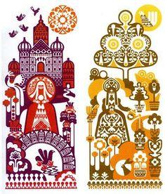 Beautiful colorful illustrations by Sanna Annukka Illustration by Sanna Annukka Illustration by Sanna Annukka San. Graphic Design Illustration, Illustration Art, Arte Tribal, Russian Folk Art, Flower Sketches, Scandinavian Folk Art, Arte Popular, Grafik Design, Traditional Art