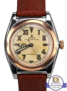 Vintage 1944 Rolex Oyster Perpetual Bubbleback California Two Tone 3133 Watch Old Watches, Watches For Men, Wrist Watches, Vintage Rolex, Vintage Watches, Rolex Oyster Perpetual, Watch Brands, Oysters, Omega Watch