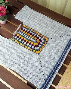 (notitle) – Selma Başar Altınkaya – Join in the world of pin Crochet Woman, Love Crochet, Easy Crochet, Crochet Top, Crochet T Shirts, Crochet Cardigan, Crochet Clothes, Crochet Crafts, Crochet Yarn