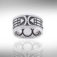 TRI1020 - Peter Stone Jewelry International - The Atlantis Ring - The ring is based on sacred geometry and numerology. It is a ring of 3's. The number Three being an important number throughout History