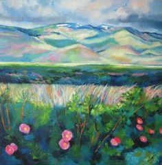 "Saatchi Art Artist Ieva Baklane; Painting, """"Wild roses"""" #art"