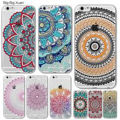 Colorful Floral Paisley Flowers Cases For iphone 7 7PLUS 6 6S 5 5S SE 6 6S Plus Hollow Mandala Henna Retro Vintage Cases