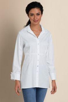 Bien Sur Shirt - Triple Collar Shirt, Women's French Cuff Shirt | Soft Surroundings