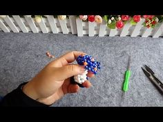 How to bead plant accessory:Mushrooms (style 1) - YouTube