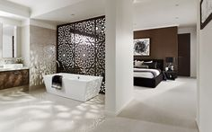 The Laguna Home - Browse Customisation Options | Metricon. Love the screened wall.