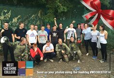 Sports students enjoying an afternoon of paintballing #WCCBESTOF14