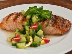 طرز تهیه ماهی سالمون, ماهی سالمون با چاشنی ریحان