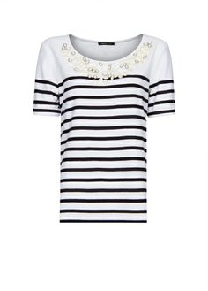 MANGO - Camiseta joya rayas