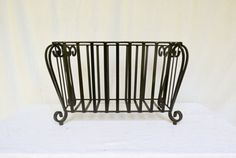 Vintage Metal Planter Iron Plant Stand Rod Iron by Vintassentials