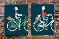 Boy + Girl on bikes - Jayde A. Cardinalli