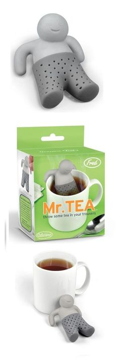 Start your Fresh morning with Mr Tea.  http://geekandhip.com/product/fred-friends-mister-tea-silicone-tea-infuser/