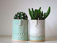 Image of Pair of small planters
