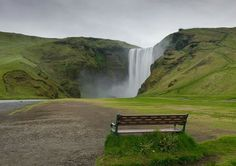 This is Skogafoss Waterfall in Iceland