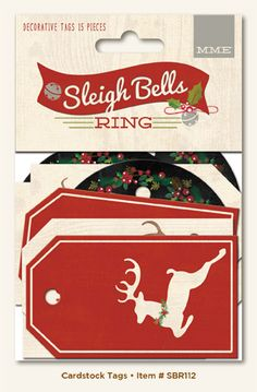 My Mind's Eye - Sleigh Bells Ring Collection - Christmas - Decorative Tags at Scrapbook.com