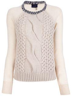 LANVIN - mixed knit jumper 6