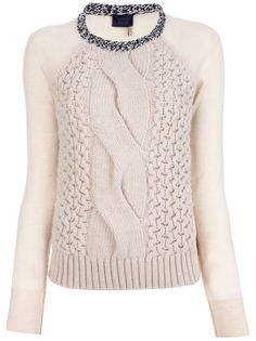 LANVIN - mixed knit jumper 6