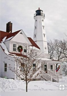 North Point Lighthouse near Milwaukee, Wisconsin