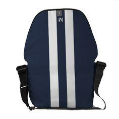 Man Racing Stripe Messenger Bag