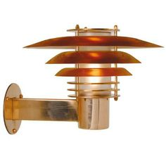 Utomhuslampa i koppar nydesign