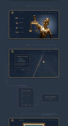 Yuri Yunusov - lawyer (Web site) on Behance Site Web Design, Website Design Layout, Web Design Tips, App Ui Design, Web Layout, Web Design Inspiration, Layout Design, Logo Design, Lawyer Website