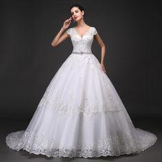 新嬌麗莎婚紗禮服新款2014拖尾新娘雙肩大碼顯瘦蕾絲孕婦定制婚紗