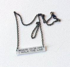 Johnny Cash Jewelry // I Walk the Line by CaliforniaZephyr on Etsy