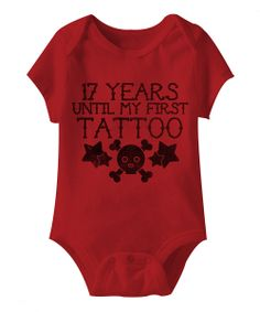 Red '17 Years' Bodysuit - Infant | zulily