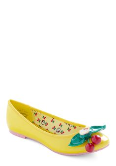 Yellow Kitty Flat. I would love this, without the kitty, to match my yellow headband with the cherries on it. :)