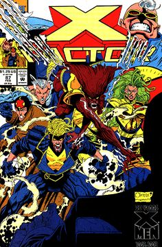 X-Factor #87 with new artist Marvel's current editor-in-chief Joe Quesada. Loved this art direction.