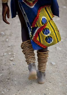 Mucubal With Anklets, Virie Area, Angola