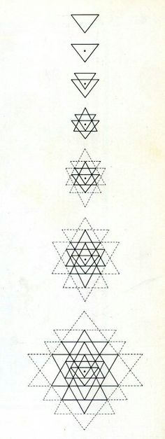 geometric triangles...... maybe only the first 4 or 5 as a tattoo
