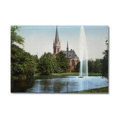 Lutherkirche_Johannapark_Leipzig_ Rectangle Magnet on CafePress.com