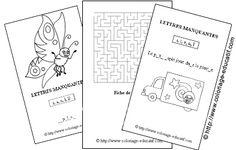 Coloriage educatif - Jeu des lettres manquantes