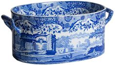 An English Blue and White Transferware Footub circa 1820.