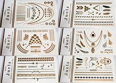 2 Packs of Assorted Gold Silver Metallic Temporary Tattoos Jewellery 210mm x 150mm Sheets Jeulz http://www.amazon.co.uk/dp/B00PCO7LJC/ref=cm_sw_r_pi_dp_Snd-ub1EV0P0N